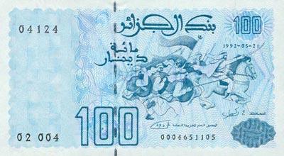 Change dinar algerien dollar