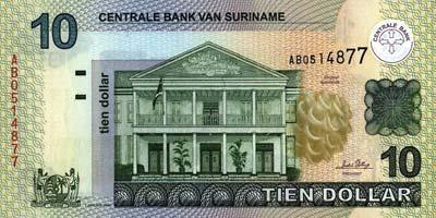 Surinam : Le Dollar - Monnaie Surinamaise