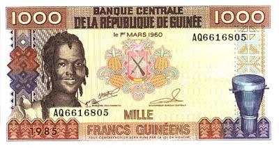 Guinée : Le Franc - Monnaie Guinéenne