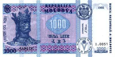 Moldavie Monnaie