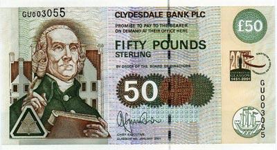 billet de banque ecosse