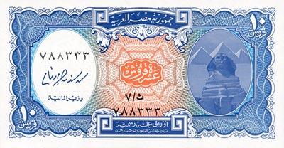 Egypte La Livre Egyptienne Monnaie Egyptienne