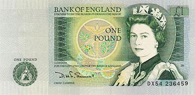 Royaume Uni La Livre Monnaie Anglaise Serie 1970