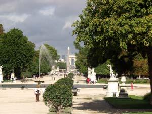 Paris le jardin des tuileries - Plan detaille du jardin des tuileries ...