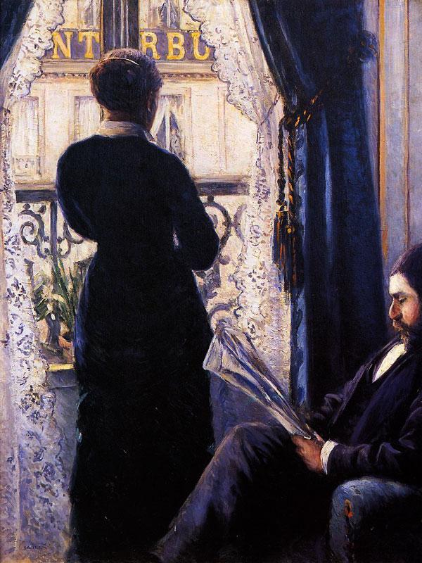 Gustave caillebotte int rieur femme la fen tre 1876 for Fenetre dos windows 8