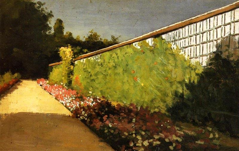 gustave caillebotte le mur du jardin potager yerres 1877. Black Bedroom Furniture Sets. Home Design Ideas
